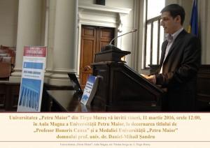 Mihai Sandru profesor honoris causa Universitatea Petru Maior